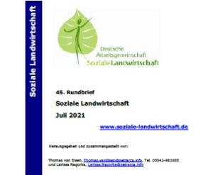 45. bulletin s informacemi z Německa – co je nového v sociálním zemědělství?